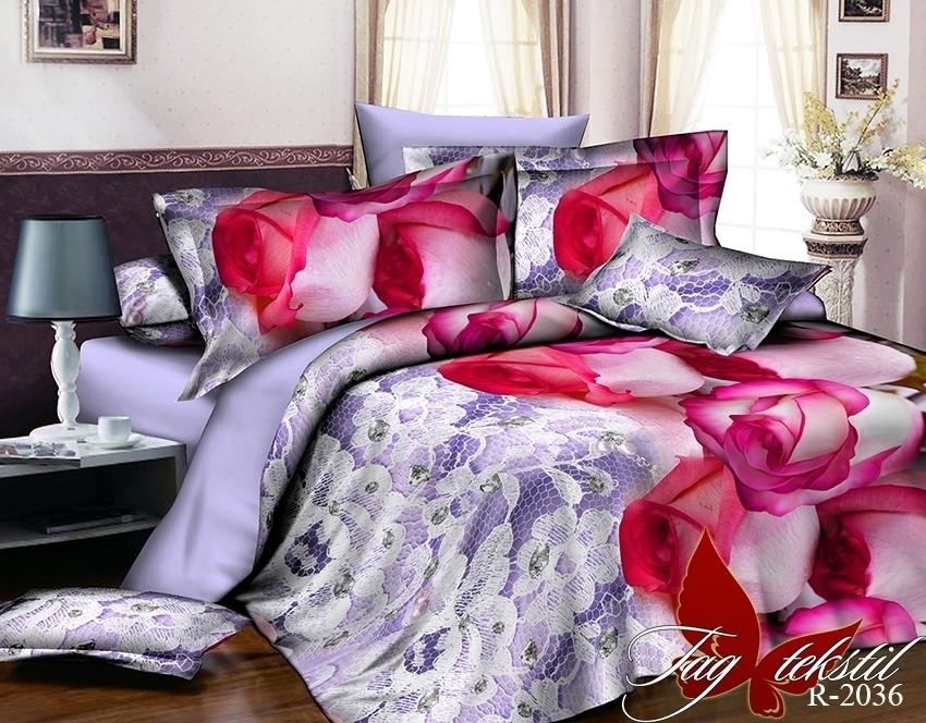 Полуторный комплект постельного белья Ранфорс R2036