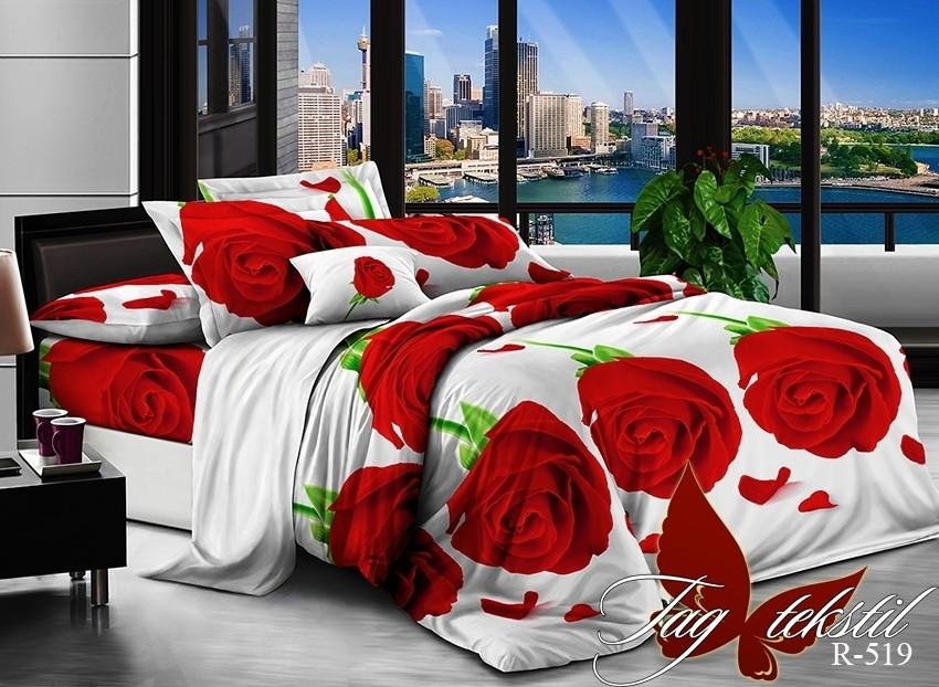 Двуспальный комплект постельного белья Ранфорс  R519
