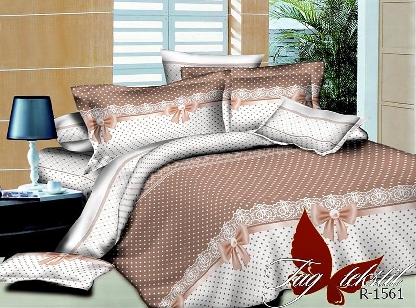Двуспальный Евро комплект постельного белья Ранфорс R1561