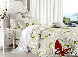 Двуспальный Евро комплект постельного белья поплин  с компаньоном PL5803