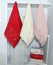 ТМ TAG Набор полотенец 30 х 50  Lovely кружева (3 шт)