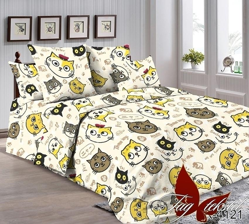 Двуспальный комплект постельного белья Ранфорс R4121