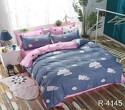 Двуспальный Евро комплект постельного белья Ранфорс с компаньоном R4145