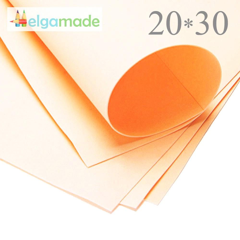 Фоамиран ТУМАННО-РОЖЕВИЙ (блідий), 20x30 см, 0.8-1.2 мм, Іран