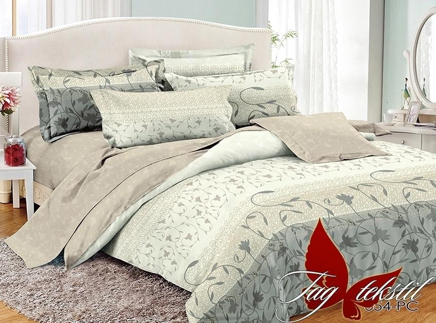 Семейный комплект постельного белья поплин с компаньоном PC054