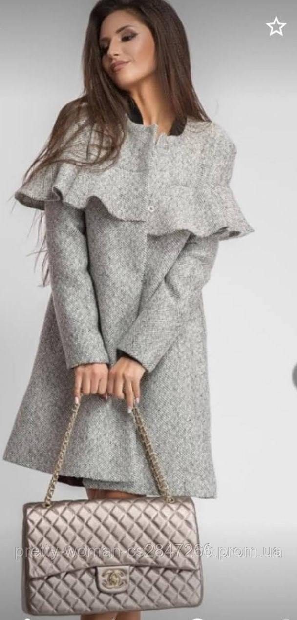 Пальто жіноче сіре