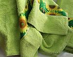 ТМ TAG Полотенце махровое Весна зелен. подсолнух 50х90, фото 2