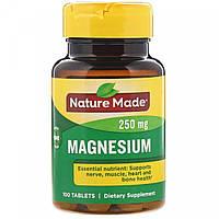 Магній Nature Made Magnesium 250mg 100 tabs