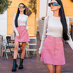 Спідниця жіноча міні вельветова стильна розміри 42 44 46 48 50 52 54 56 Новинка є кольори