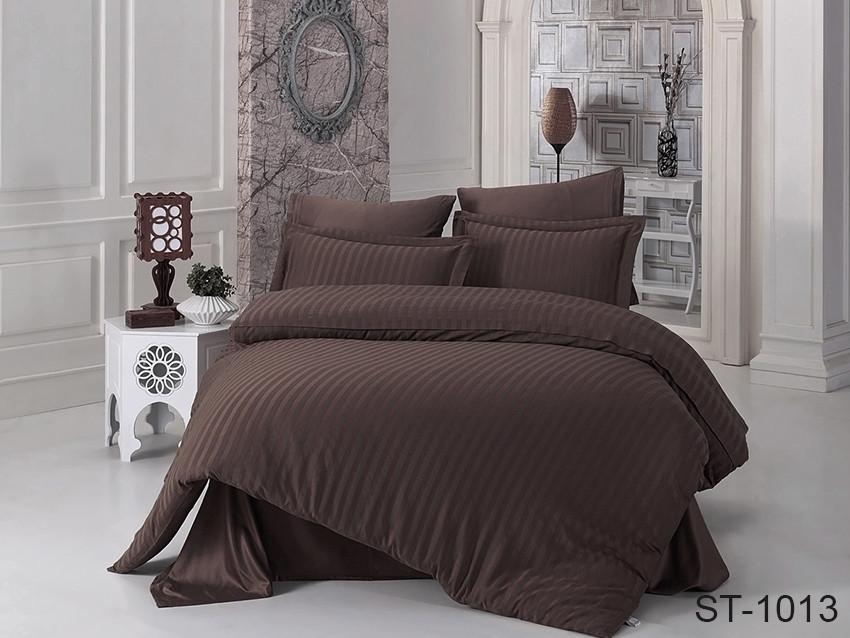 Двуспальный комплект постельного белья Страйп сатин ST-1013