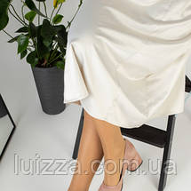 Лодочки женские замшевые, цвет пудра 36, фото 2
