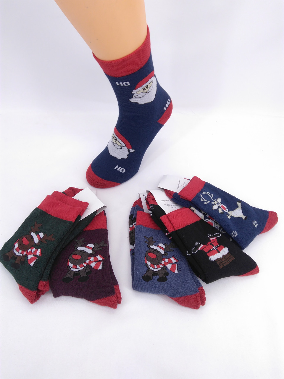 Чоловічі махрові шкарпетки Новорічний мікс 40-46