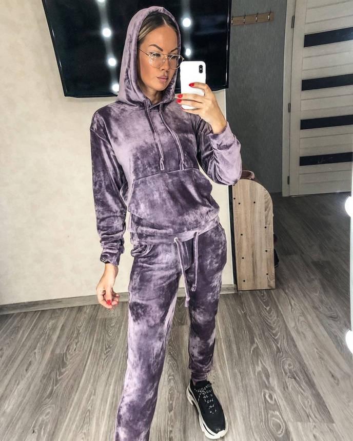 Велюровый женский спортивный костюм , размеры 42,44,46,48, фото 2