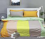 Двуспальный Евро комплект постельного белья Сатин  Color mix CM-11, фото 2