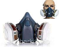 Полумаска респиратор аналог 3м 7502 . 7 в 1 комплект