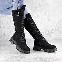 Сапоги женские черные Jobe 2266 (36 размер), фото 1