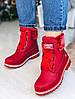 Зимние красные ботиночки  36 размер