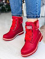 Зимние красные ботиночки  36 размер, фото 1