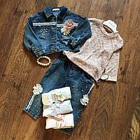 Костюм джинсовый для девочки 3ка 1 год, 104