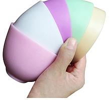 Силіконова мисочка для косметолога 13 см діаметр блідо рожева