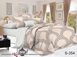 Двуспальный ЕВРО МАКСИ комплект постельного белья Сатин Люкс с компаньоном S354