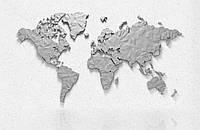 Фотообои 3d карта мира