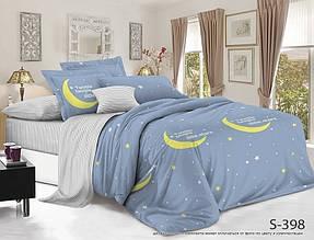 Двуспальный ЕВРО МАКСИ комплект постельного белья Сатин Люкс с компаньоном S398