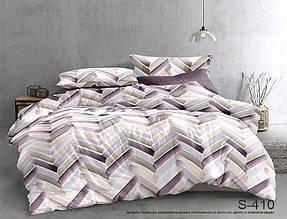 Двуспальный ЕВРО МАКСИ комплект постельного белья Сатин Люкс с компаньоном S410