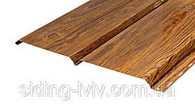 Софіт металевий для підшивки даху золотий дуб зД