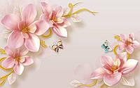 Фотообои Узор с цветов нежно-розового оттенка