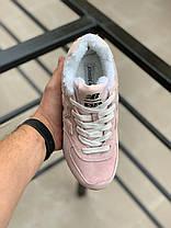 """Зимние кроссовки на меху New Balance 574 """"Розовые"""", фото 3"""