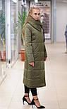 Зимний пуховик-одеяло  хаки  Elvi  С 91, фото 2