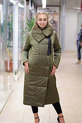 Зимний пуховик-одеяло  хаки  Elvi  С 91