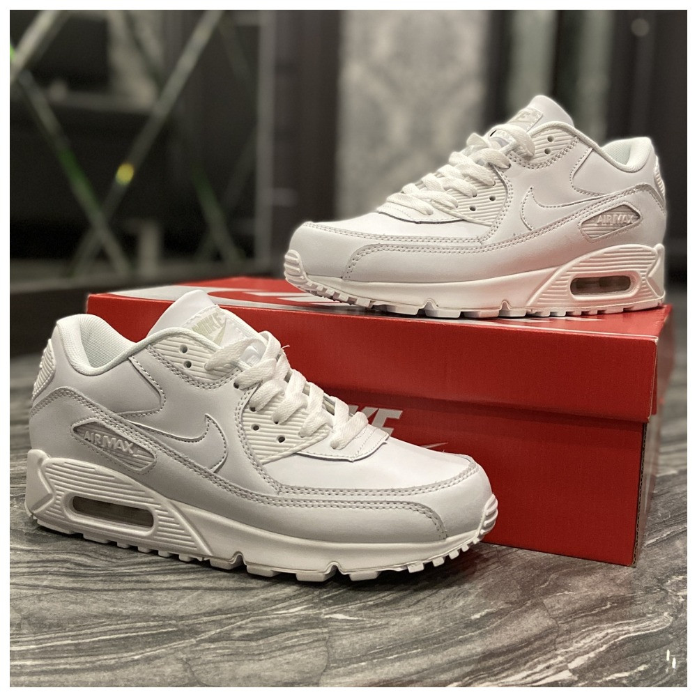 Кроссовки Nike Air Max 90 Full White, кроссовки найк аир макс 90, кросівки Nike Air Max 90, найк аір макс 90