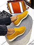 Жіночі демісезонні черевики - лофери Лоро, натуральна шкіра і замш, фото 9