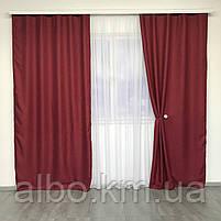 Штори проти світла в спальню зал дитячу, штори з льону на вікна в спальню кабінет хол кухню, штори від сонця для дитячої кімнати, фото 4