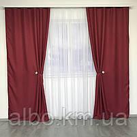 Штори проти світла в спальню зал дитячу, штори з льону на вікна в спальню кабінет хол кухню, штори від сонця для дитячої кімнати, фото 3