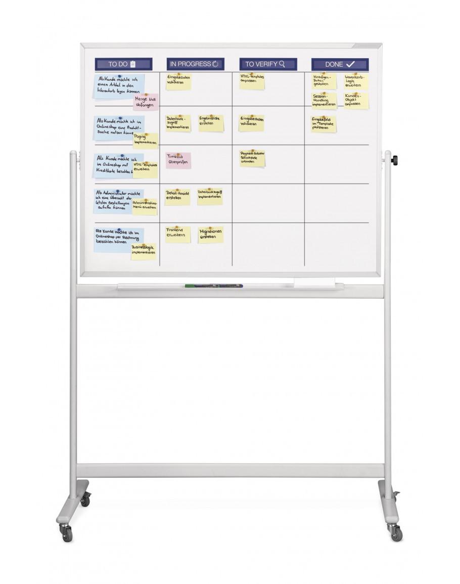 Планировщик мобильный Magnetoplan SCRUM-board Mobile Standard-Sett 1200 x 900 мм