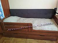 Ліжко з висувними ящиками і м'якою спинкою Релакс, 1900 х 800, фото 1