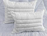 Бавовняна подушка білого кольору з наповнювачем гречане лушпиння 50х70 см, фото 2