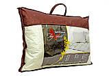 Трикотажная подушка белого цвета с наполнителем холлофайбер 70х70 см, фото 3