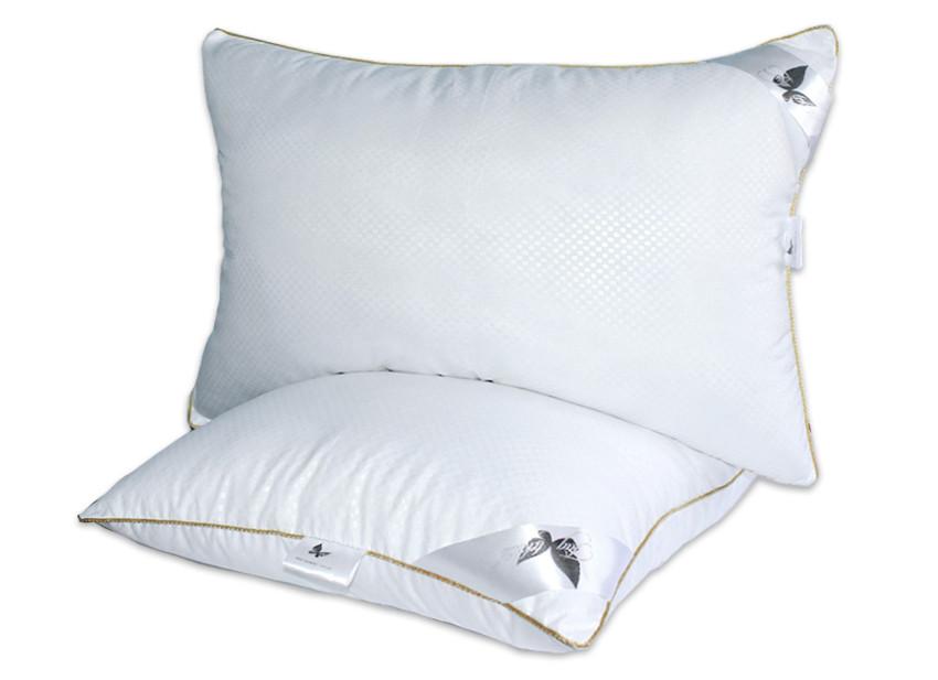 Біла подушка мікрофібра з наповнювачем экопух 70х70 см