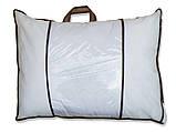 Біла подушка з візерунком і наповнювачем штучний лебединий пух 70х70 см, фото 2