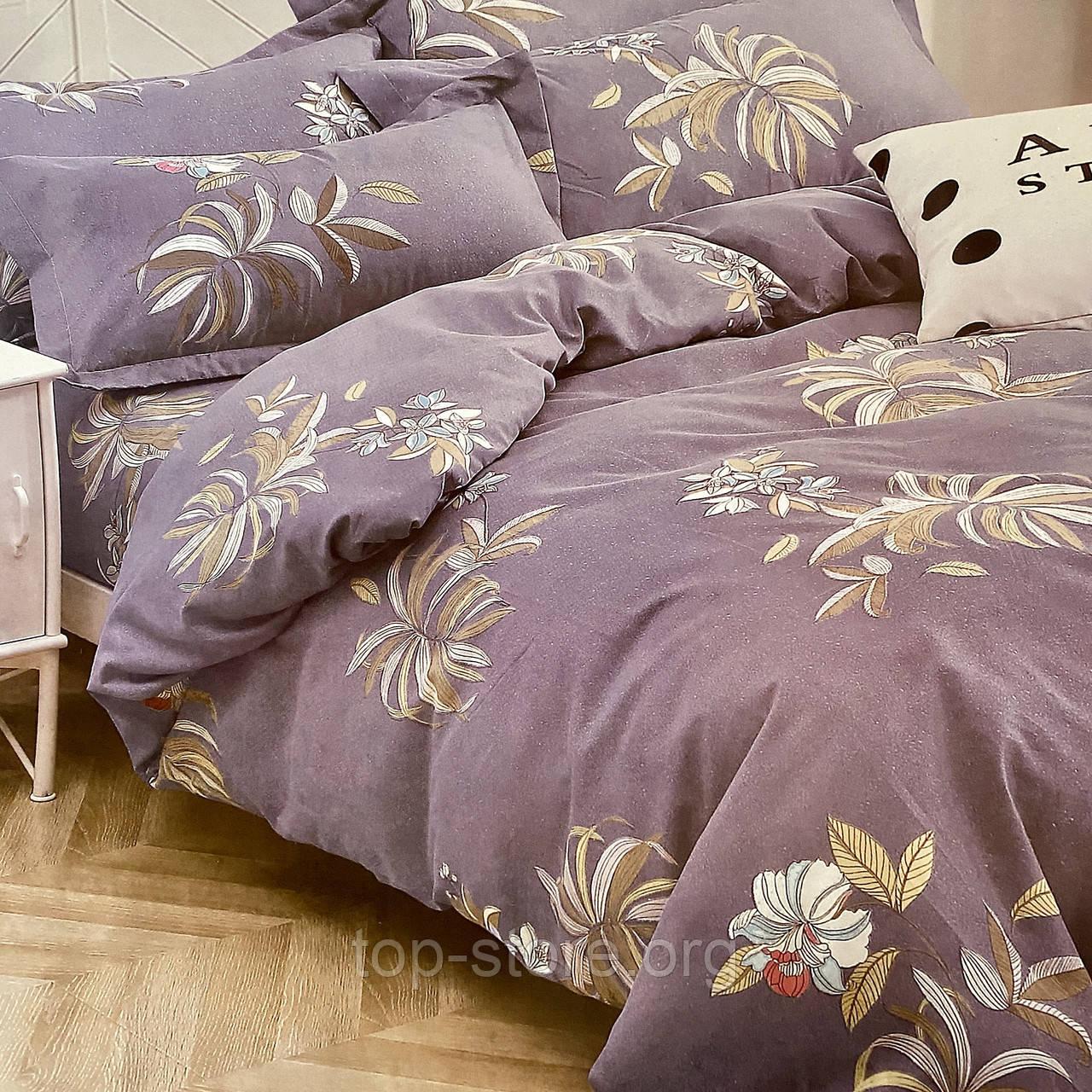 Двуспальный комплект постельного белья | Постельное белье Фланель ( Байка)