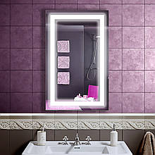 Зеркало LED со светодиодной подсветкой DV 751 500х800 мм. бесплатная доставка
