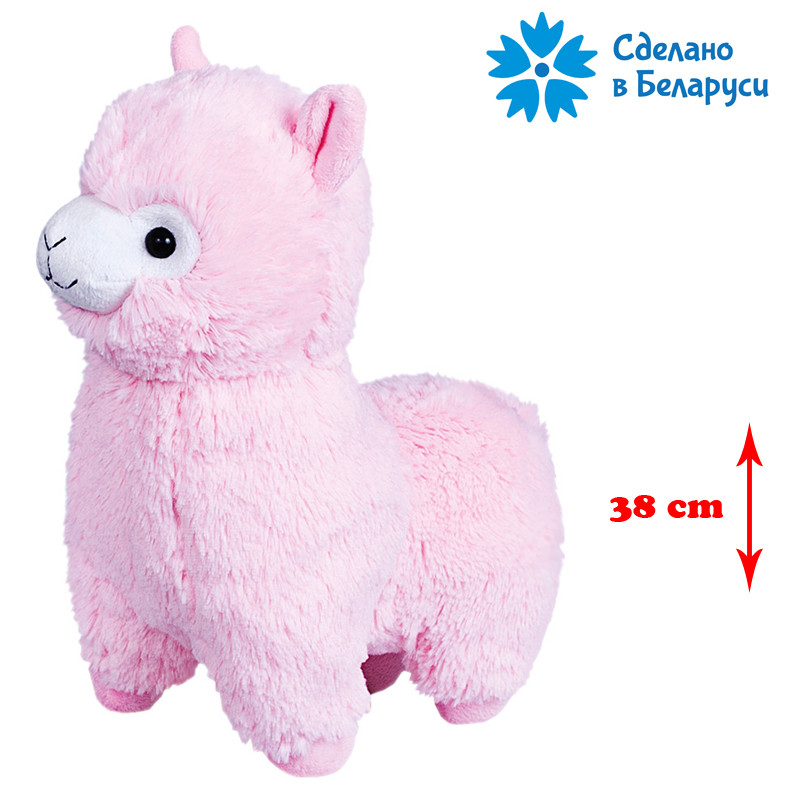 Мягкая игрушка Альпака - Розовая, FANCY