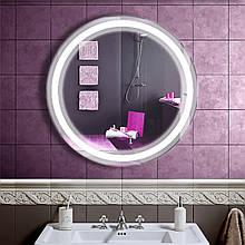 Зеркало LED со светодиодной подсветкой DV 7561 800х800 мм. бесплатная доставка