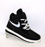 Зимнее женские ботинки на шнуровке в спортивном стиле