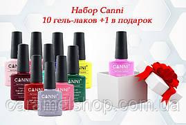 Набор гель-лаков Canni 10+1 в подарок