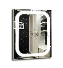 Зеркало с led  подсветкой 600х800мм, Лэд бесплатная доставка
